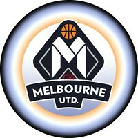 NBL Melbourne United 7 INCH EDIBLE IMAGE CAKE & CUPCAKE TOPPERS / Party