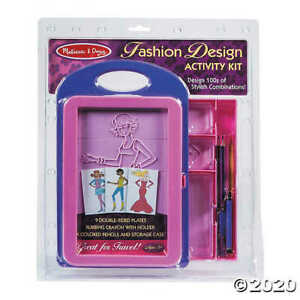 Melissa & Doug Fashion Design Activity Kit 14 Pc  #4312 Carry Case BRAND NEW