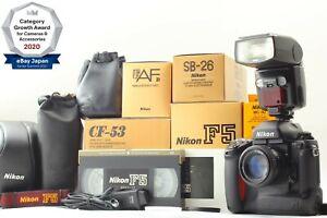 【TOP MINT in BOX】 Nikon F5 + AF Nikkor 50mm f/1.4 D + SB-26 + CASE From JPN 1325