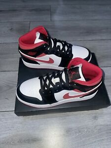 Jordan 1 Mid Gym Red Size UK 5 GS Brand New