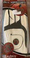 Masters Mens All Weather Golf Glove XL Left Hand Leather White Golfing Grip
