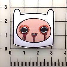 """Adventure Time Crazy Finn  4"""" Wide Vinyl Decal Sticker BOGO"""