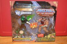 2010 Motu Classics Vs Dc Universe GREEN LANTERS ZODAC Action Figures He-Man NIB