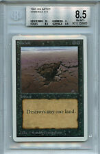 MTG Unlimited Sinkhole BGS 8.5 NM/MT+ Card Magic Amricons 0985