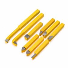 1X(9pcs/Set YW1 Carbide Brazed Tip Tipped Lathe Cutter Tools 8x8mm Shank Hi J8I8