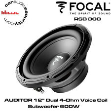 """Focal RSB 300 - AUDITOR 12"""" Dual 4-Ohm Voice Coil Subwoofer Bass Sub 600W"""