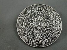 Dial Brooch Pendant Unsigned Gomez? Incredible Detail Silver Mexican Sun
