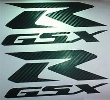 "CARBON FIBER GSXR DECALS, 2PC , 7""x 3"", suzuki 600 750 tank fairing GSX-R 1100"