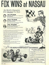 Vintage Beautiful 1960's Fox Mak Kart Go-Kart Ad