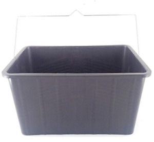 Pro Paint Bucket 15 Litre Capacity Skuttle Black Oblong Bucket Bowl with Metal