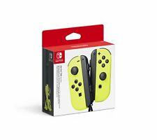 Paire de Manettes Joy-Con Officielle Gauche Droite Nintendo Switch Jaune Néon