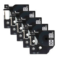 """US STOCK 5PK 9mm 40913 Black on White Label Tape For DYMO D1 LabelManager 3/8"""""""