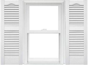 Mid America Open Louver Vinyl Shutters 12X60in. WHITE (1 Pair) SPRING SALE