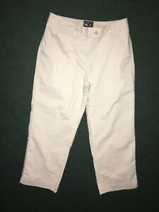 "Adidas Women's Size 4 ClimaLite Bermuda Golf Pant Tan Khaki Stretch Inseam 23"""