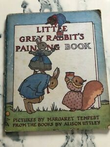 Little Grey Rabbit's Painting Book by Alison Uttley 1955 unused (first?)