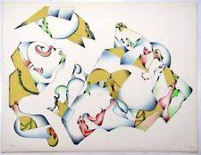 Lithographie de Jan VOSS  signée numér. 1974 Das beste Klima des Kontinents **