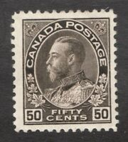 #120  -  Canada -  1925  -  50 Cent  -  MH  - F/VF -  superfleas