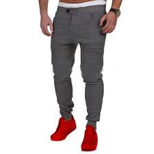 Mens Sport Pants Long Trousers Tracksuit Plain Workout Joggers Sweatpants S-3XL