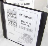 Bobcat 763 763F Service Manual Book Skid steer 6900091 repair shop book