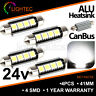 24V HIGH POWER WHITE LED TRUCK LORRY HGV C5W CANBUS INTERIOR LIGHT CAB BULBS