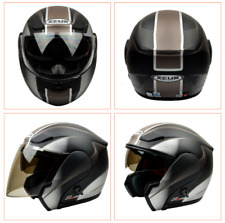 ZEUS Modular Motorcycle 3in1 Helmets Full/Half Flip Up Motocross Helmet Headgear