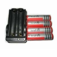 US 4pcs Ultrafire 18650 3000 mAh 3.7V Li-ion Rechargeable Battery+ Dual Charger