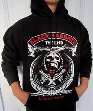BLACK SABBATH THE END WORLD TOUR HOODIES PUNK ROCK BLACK MEN's SIZEs