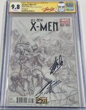 All New X-men #27 B&W Retailer Incentive Signed Stan Lee & Alex Ross CGC 9.8 SS