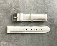 Genuine TX Luxury 20mm White Leather Replacement Watch Straps No 1599