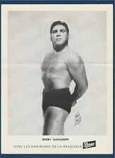 "BOBBY MANAGOFF 1950's  WRESTLING DOW PICTURE 8-1/4"" X 11""  32273"