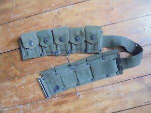 Original WWII US M1923 M1 Garand Ammunition Belt dated 1943