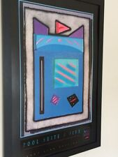 Abstract framed wall art -61x91cm, Neil Loeb, vintage lithograph posters