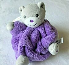 DOUDOU OURS violet fluo néon attache tétine KALOO NEUF étiqueté emballé