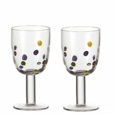 Set of Two Leonardo Millefiori White Wine Glass