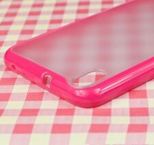 For HTC Desire 816 - HARD TPU GUMMY RUBBER SILICONE SKIN CASE COVER HOT PINK
