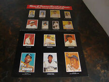Rare & Famous Baseball Cards---Poster---2-Sided Fold-Out---10x16---1991
