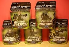 2008-2009 GI Joe The Rise Of Cobra Combat Heros LOT 5 Figures NIB