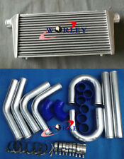 "Universal 300x600x70mm intercooler + 3"" aluminium piping+blue Silicone Hose kit"