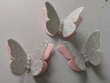 Paper butterflies  table decorations Wedding Birthday Baby Shower Pink&Silver