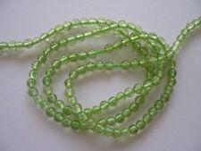 Peridot round beads 4.5mm. Natural gemstone beads. Green gemstone beads