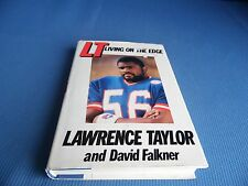 LT : Living on the Edge by Lawrence Taylor and David Falkner (1987, Hardcover)