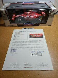 2007 Dan Wheldon #10 Target CGR Autograph w/JSA COA 1:18 Indycar Greenlight MIB
