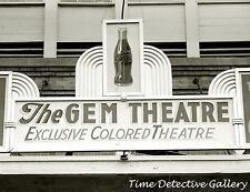 Marquee Colored Only Theater, Waco, Texas - 1939 - Historic Photo Print