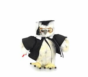 Korimco 20cm Graduation Owl Kids Animal Soft Plush Stuffed Toy White 3y+