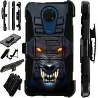 Luxguard For Cricket Ovation/AT&T Radiant Max Phone Case Cover ANGRY WEREWOLF