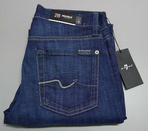 7 For All Mankind STANDARD Stretch Men's W-28 Blue Denim Straight Leg Jeans $290