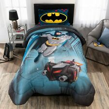 "Batman ""Guardian Speed"" Twin Reversible Comforter + Sheet Set Boys Bedding"