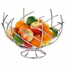 Premier Housewares Twist Fruit Basket - Chrome