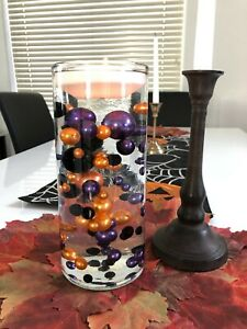 Halloween Table Decors Floating Pearls Centerpiece, No Hole Vase Filler Pearls
