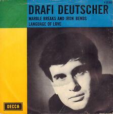 "DRAFI DEUTSCHER – Marble Breaks And Iron Bends (1966 SINGLE 7"" RARE DUTCH PS)"